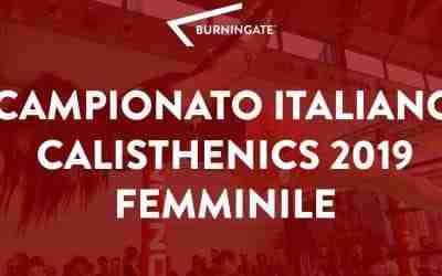 CAMPIONATO ITALIANO CALISTHENICS FEMMINILE 2019