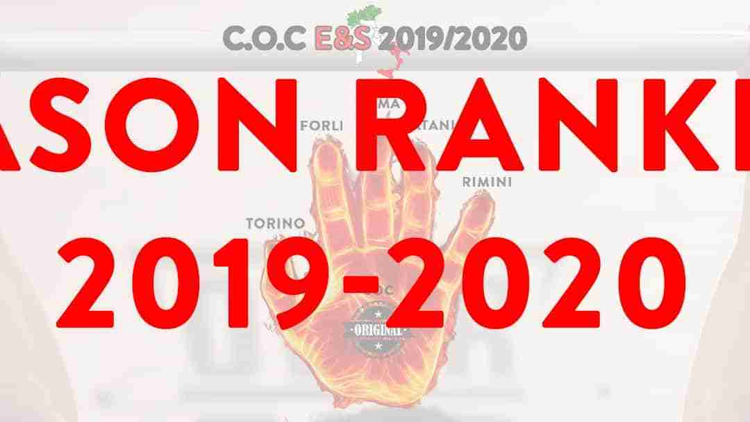 C.O.C Endurance & Strength Season Ranking 2019-2020