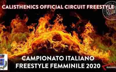 FINALE CAMPIONATO ITALIANO CALISTHENICS FREESTYLE FEMMINILE 2020