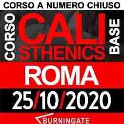 ROMA CORSO CALISTHENICS 25 ottobre 2020