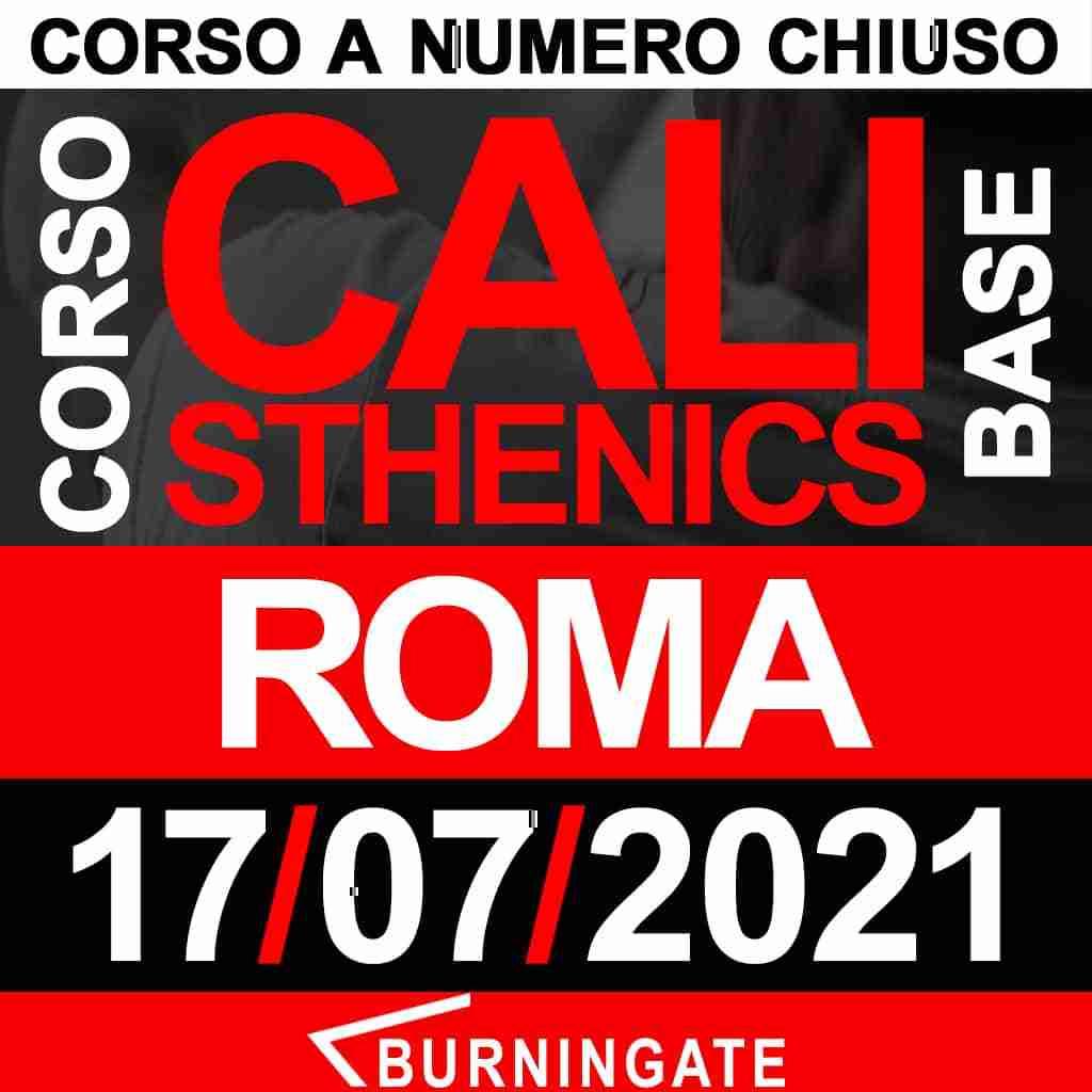 corso calisthenics roma 17 luglio 2021