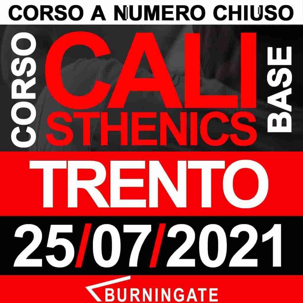 corso calisthenics trento 25 luglio 2021