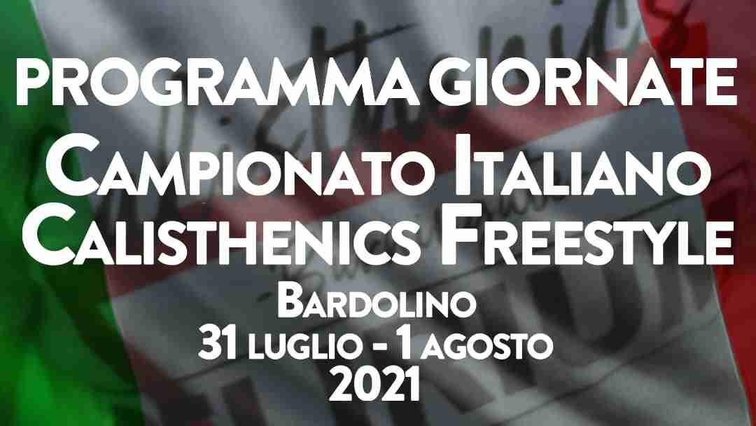 campionato italiano calisthenics freestyle 2021 programma giornate