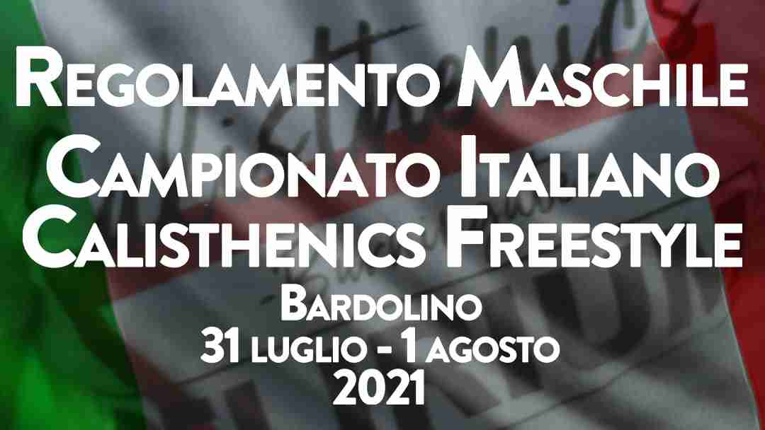 campionato italiano calisthenics freestyle maschile